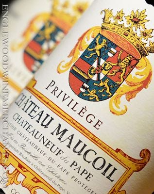 "2016 Chateau Maucoil, ""Privilege"" Chateauneuf du Pape"