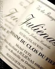 """2016 Clos du Fief, """"Julienas"""" Cru Beaujolais"""